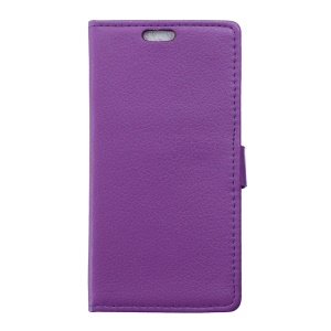 Lychee Skin Leather Wallet Phone Case for Vodafone Smart prime 6 VF-895N - Purple