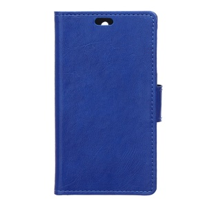 Crazy Horse Leather Stand Case for Vodafone Smart prime 6 VF-895N with Card Slots - Blue