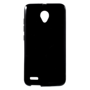 Ultra Slim Glossy Outer Matte Inner Jelly TPU Shell for Vodafone Smart prime 6 VF-895N - Black