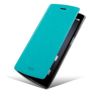 Mofi OEM Rui Series Flip Leather Cover with Stand for Oneplus One A0001 - Blue