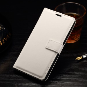 For OnePlus 2 Crazy Horse Wallet Leather Skin Case with Stand - White