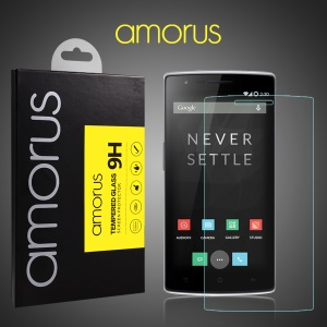 AMORUS 9H Tempered Glass Screen Protector for Oneplus One A0001 Arc Edge