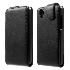 Vertical Flip Magnetic Leather Case for Wiko Goa