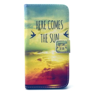 Here Comes the Sun Leather Cover for Wiko Lenny with Card Slots