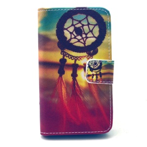 Dream Catcher Sunset Wallet Stand Leather Shell for Wiko GOA