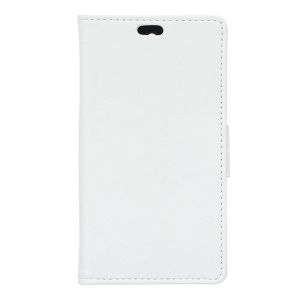 Crazy Horse Wallet Leather Case for Wiko Highway Pure 4G - White