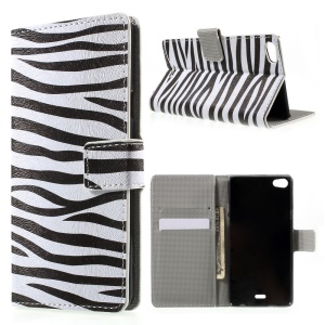 Zebra Stripe Magnetic Leatherette Case Cover for Wiko Highway Pure 4G