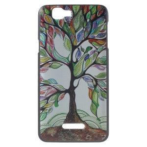 Mysterious Colorful Tree Hard Plastic Back Cover for Wiko Rainbow