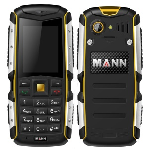 MANN ZUG S 2.0-Inch Smartphone, IP67 Waterproof Dustproof Shockproof, RAM 8MB ROM 8MB - Yellow