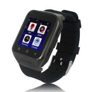 ZGPAX S8 3G Android Watch Phone 1.54-Inch Dual Core RAM 512M ROM 4GB - Black