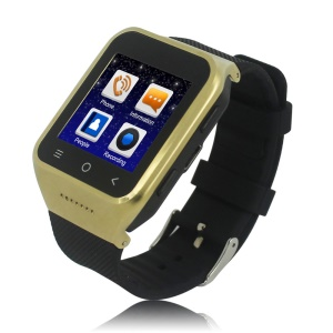 ZGPAX S8 3G Android Watch Phone 1.54-Inch Dual Core RAM 512M ROM 4GB - Gold Color