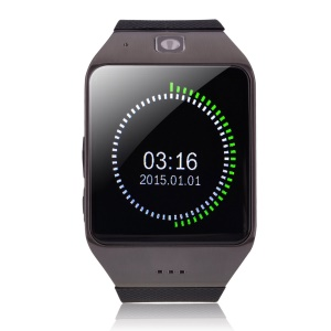 UHAPPY UW1 V3.0 Bluetooth Smart Watch Phone with Pedometer Sleep Monitor etc Function - Black
