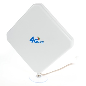 35dbi Dual TS9 Connectors 4G LTE MIMO Antenna with Base