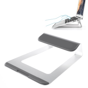 Aluminum Alloy Laptop Stand for Apple Samsung Sony etc Notebooks - Silver Color