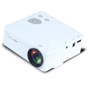 UHAPPY U18 Mini Projector Remote Control Support HDMI USB SD VGA AV for Android and iOS - White