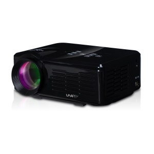 UHAPPY U35 Mini HD LED Projector Support 3D HDMI VGA SD Card - Black