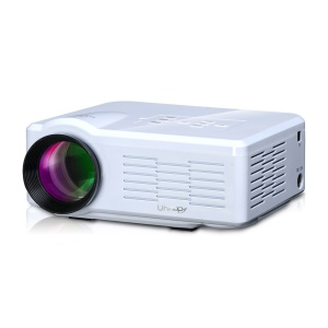 UHAPPY U35 Mini HD LED Projector Support 3D HDMI VGA SD Card - White