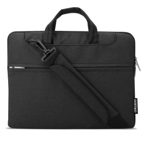 POFOKO Seattle Borsa A Tracolla Per Laptop Per Ipad Pro Macbook Air Pro Da 13,3 Pollici - Nero