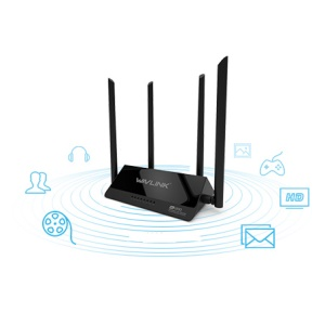 WAVLINK WL-WN521R2P Smart WIFI 4 Antenas 300Mbps Wireless Router - negro / EU vela