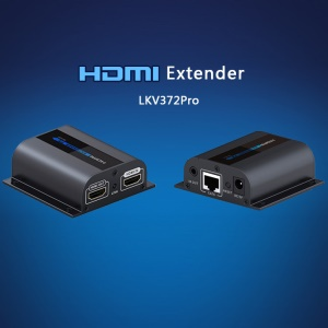 LKV372 Pro 196ft/60m 1080P HDMI Extender Over Cat6 Single Cable with Loop-out - EU Plug