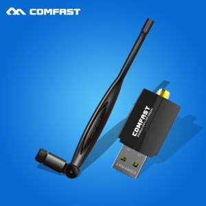 COMFAST CF-WU855P 300Mbps 802.11N/G/B Wireless USB WiFi Adapter Dongle LAN Card with 5dBi Fixed Antenna