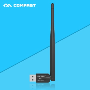 COMFAST CF-WU756P 300Mbps 802.11N/G/B Wireless USB WiFi Adapter Dongle LAN Card with 5dBi Fixed Antenna