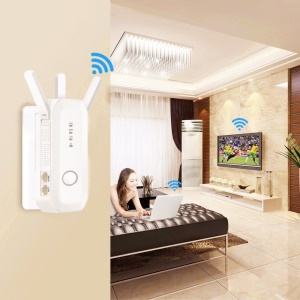 AC 750M 2.4G/5.8G WiFi Booster Wireless Router Repeater with 3 External Antennas - UK Plug