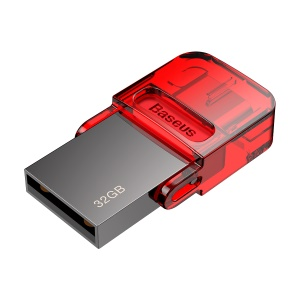 BASEUS 32GB 480mbps Red-hat Type-c Disco Flash USB - Rojo