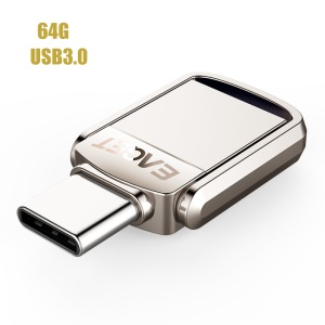 EAGET CU20 USB 3.0 + Tipo C 3.1 2 En 1 Unidad Flash Memory Stick U Disk - 64GB