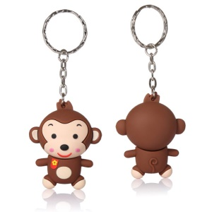 VITAS 16GB Monkey Shape USB 2.0 High Speed Flash Drive Memory Stick with Key Ring