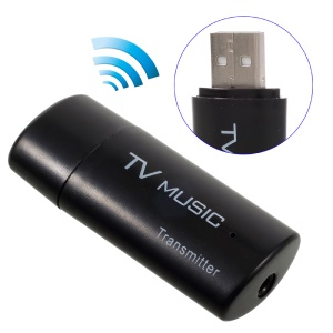 3.5mm Aux Portable Stereo Bluetooth Audio Transmitter Wireless Music TS-BT35F05 - Black