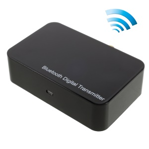 Digital Optical Fiber Toslink Wireless aptX Bluetooth 2.1 Audio Transmitter (TS-BTDF01) - Black / EU Plug
