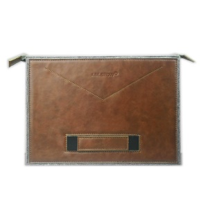 J.M.SHOW Universal Sleeve Bag Envelope for Macbook Air 11 inch / Samsung Tab S 10.5, Size: 31 x 20cm - Brown