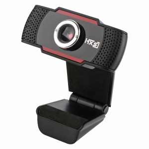 HXSJ S20 HD Meeting Manual Focused Camera with Sound Absorbing Microphone - Black / Red