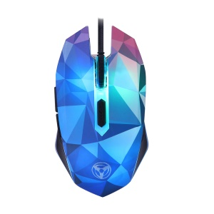 W39 Diamante Version 3200DPI 6 Buttons Wired Gaming Mouse with LED Breathable Light