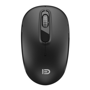 FORTER V2 2.4G Wireless Mouse 1600DPI Ergonomic Wireless Mouse - Black