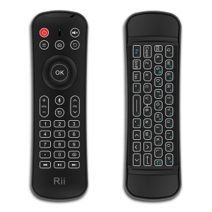 RII MX6 2.4GHz Remote Control Backlight Keyboard with Air Mouse and Voice Control