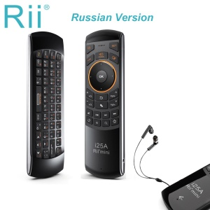 RII K25A Multifunctional 4-in-1 2.4GHz Mini Wireless Fly Mouse Keyboard IR Infrared Remote Control Kit - Russian Version