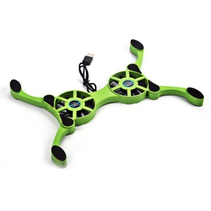 Creative Octopus Shape Foldable Potable USB Mini Cooling Cooler Pad with 2 Fans for Laptop Notebook Computer - Green