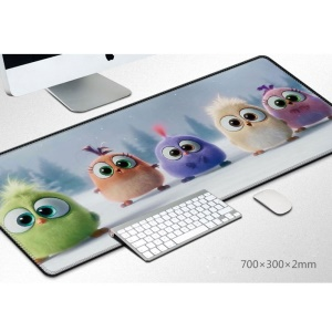Pattern Printing Large Size Computer Mouse Mat Soft Rubber Gaming Mouse Pad - Bird