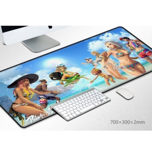 Pattern Printing Large Size  Soft Rubber Gaming Mouse Pad Computer Mouse Mat - Summer Beach