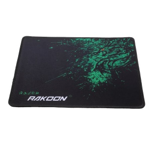 RAKOON Gaming Mouse Pad Stitched Edges Non-Slip Mouse Pad, Size: 210x260mm - Green