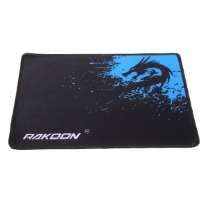 RAKOON Gaming Mouse Pad Stitched Edges Non-Slip Mouse Pad Mat, Size: 210x260mm - Blue