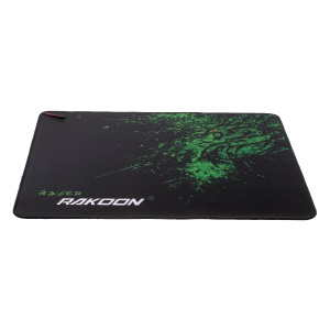 RAKOON Gaming Mouse Pad Stitched Edges Non-Slip Mouse Pad, Size: 350x440mm - Green