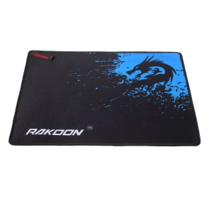 RAKOON Stitched Edges Gaming Mouse Pad Non-Slip Base Mouse Mat, Size: 250x300mm - Blue Dragon