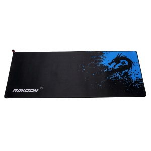 RAKOON Stitched Edges Anti-skid Gaming Mouse Pad, Size: 300x800mm - Blue