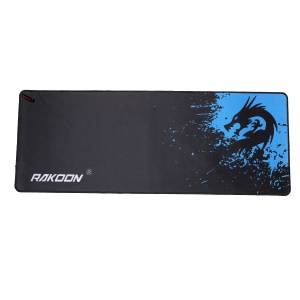 RAKOON Extended Large Gaming Mouse Pad Stitched Edges Non-Slip Mouse Pad, Size: 400x900mm - Blue Dragon