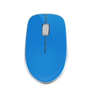 W4 2.4G 3 Keys 1600DPI Wireless Ergonomic Optical Mouse for Home Office - Blue