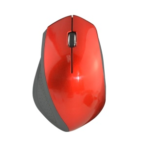 W5 3 Keys 2.4G Wireless Mouse Portable Optical 1600DPI Mice - Red