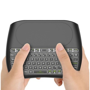 D8 Mini 2.4GHz Wireless Keyboard Air Mouse Touchpad Controller [7-Color Backlight / 78 Keys]
